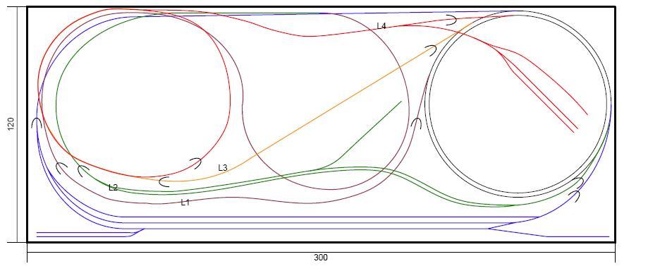 Alte Spur N Anlage - Plan
